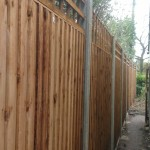 an extra-tall fence for privacy and security