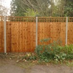 Fence with long-lasting concrete posts