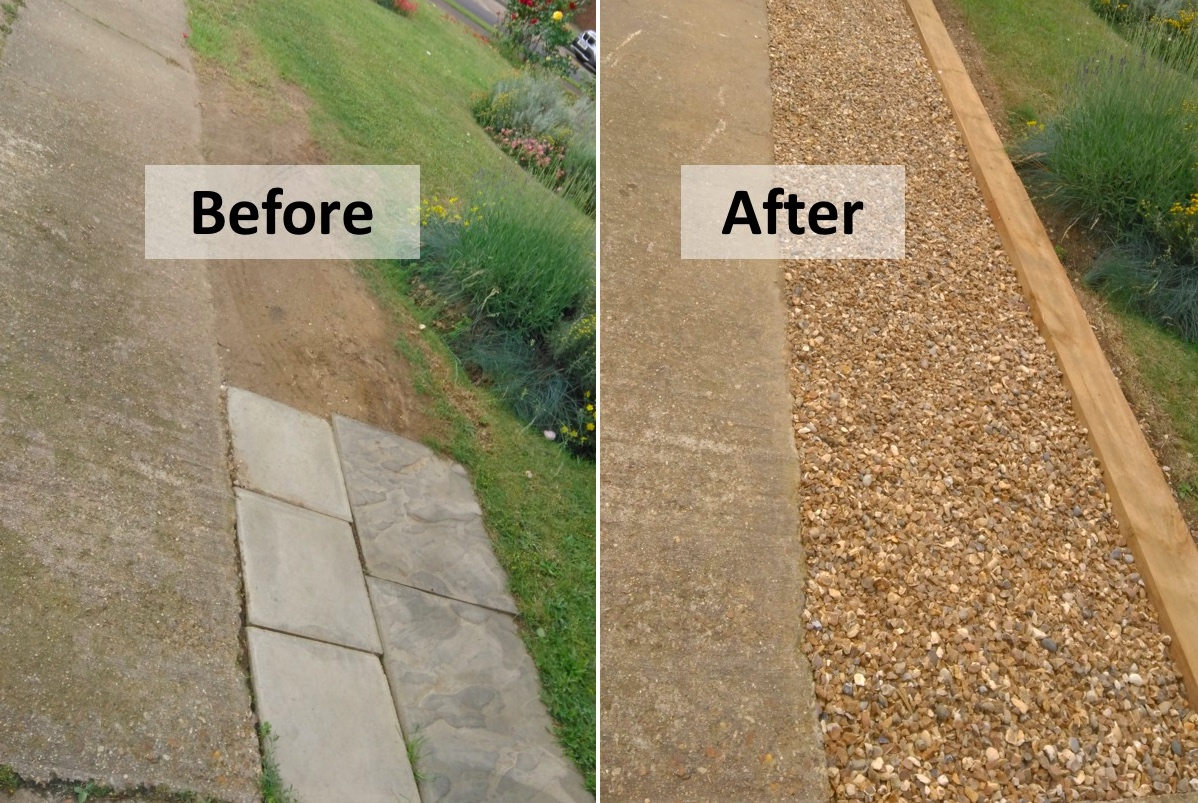 Landscape Timbers Driveway Edging : Patio and drives busy bee landscapes