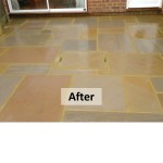 Patio After - Indian Sandstone Patio