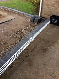 Adding drainage to a driveway
